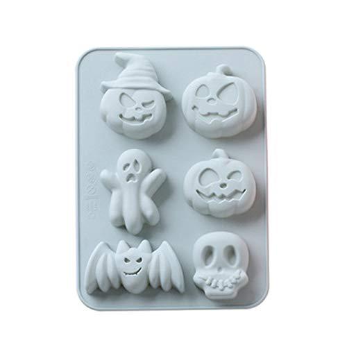 Molde de silicona para tartas de Halloween, molde de silicona de 6...