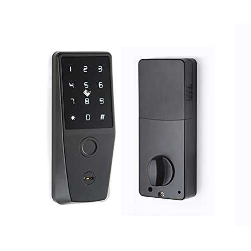 Waterpoorf Smart Door Lock,Biometric Smart Lock with WiFi-Touch Screen Electronic Keypad Deadbolt Lock,Door Lock Work with Tuya APP,Code, Fingerprint and Key