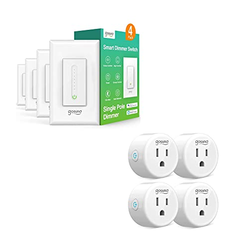 Smart Dimmer Switch 4 Packs and Smart Plug 4 Packs