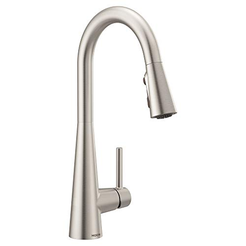 Moen 7864SRS Sleek One-Handle High Arc Pulldown Kitchen Faucet Featuring Power Clean, Spot Resist Stainless