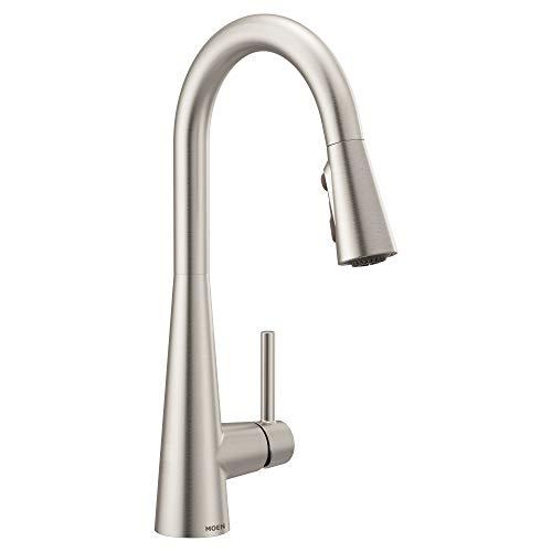 Moen 7864SRS Sleek One-Handle High Arc Pulldown Kitchen...