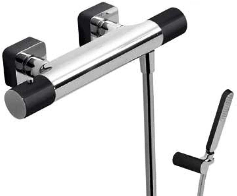Drei griferia Thermostatische Dusche Handbrause Antikalknoppen mit Halterung und Schreibtischlampe Satin Schwenkbar 91.34.609.15). (20016409ne)