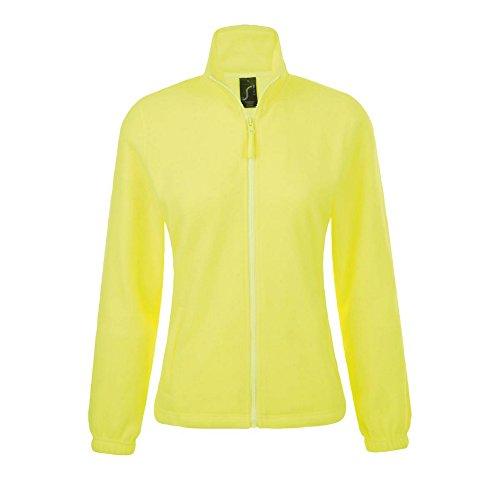 SOLS Damen North Fleece-Jacke mit durchgehendem Reißverschluss (L) (Neon Gelb)