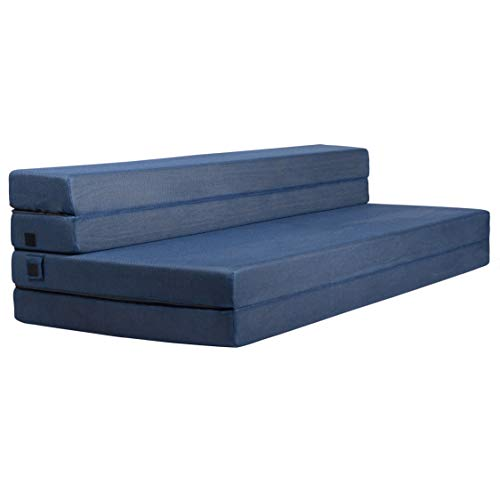 Milliard Tri-Fold Foam Folding Mattress and Sofa Bed for Guests (King)