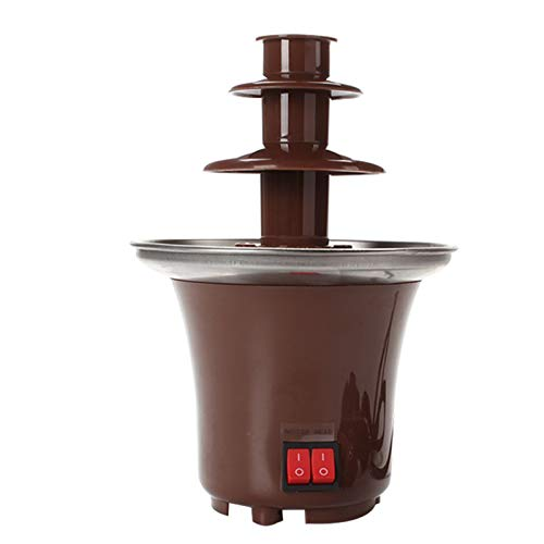 Dingyue - Mini fontana a 3 ripiani per fonduta di cioccolato, facile da montare, perfetta per nacho, formaggio, barbecue, salsa, liquori