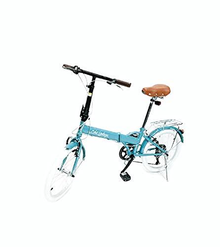 Bicicleta Dobrável Fenix Blue LIGHT Kit Marcha Shimano 6 Velocidades