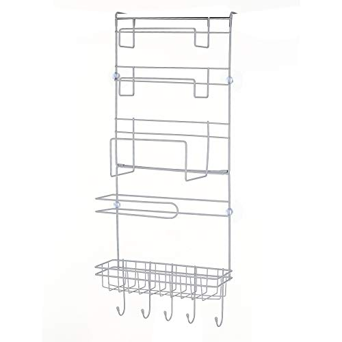 Ritioneer Refrigerator Rack Refrigerator Side Storage Organizer Rack Multi-Layer Sidewall Holder Kitchen Organizer Hanging Hook Folding Fridge Storage for Home