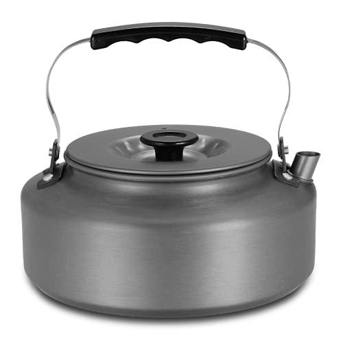 1.6L Tetera portátil Tetera de la tetera Cafetera de café silbando de aluminio tetera de aleación al aire libre Camping Senderismo Picnic Pot