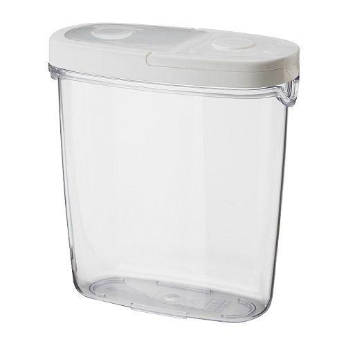 IKEA 365+ - Vorratsbehälter mit Deckel, transparent, weiß