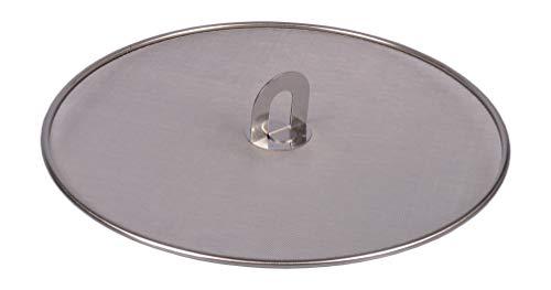 Edelstahl Pfannenspritzschutz 33cm Spritzschutzdeckel Pfannen Spritzschutz