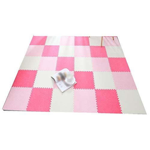 AWSAD Dalles en Mousse Style Pastoral avec Bordure Lavable Couloir Chambre Sol Et Bébé, Plusieurs Couleurs, 30x30x0.6cm (Color : A, Size : 20-Tiles)