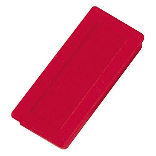 Dahle 95850 Haftmagnet (23 x 50 mm) 10 Stück rot