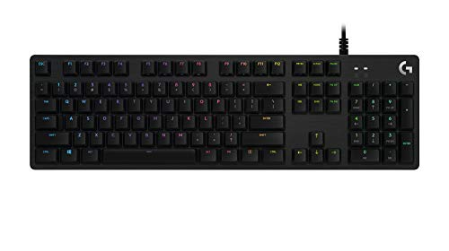 Logitech G512 SE Lightsync RGB Mechanical Gaming Keyboard with USB Passthrough - Black