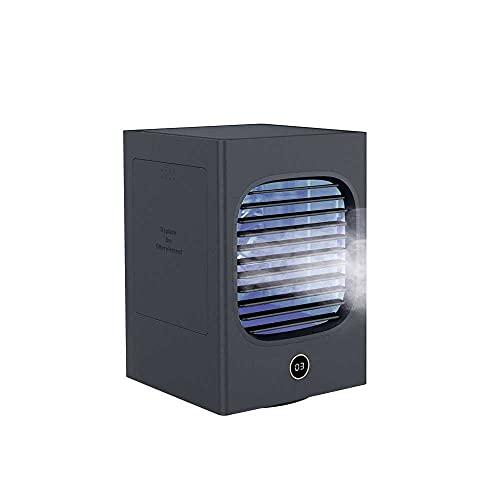 N\C Ventilador de refrigeración de agua de escritorio Mini ventilador de refrigeración USB Ventilador de aire acondicionado portátil para el hogar azul oscuro versión de batería incorporada