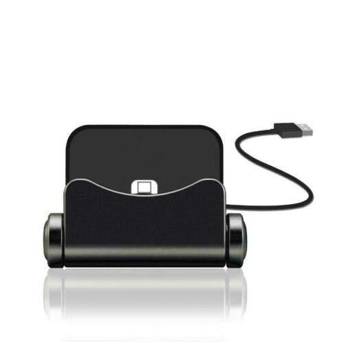 N4U Online® Premium Ladestation Sync Dock Ständer Halterung für Asus ZenFone Go 5.0 (LTE) Schwarz