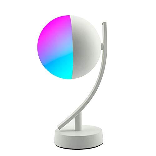 CHUN LING Lámparas de Escritorio LED RGB, Control de Voz Inteligente, aplicación WiFi, lámparas de mesita de Noche Regulables remotas, para Fiestas en casa, Sala de Estar
