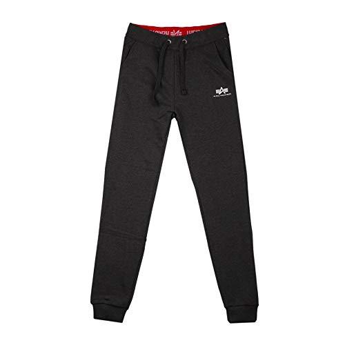 ALPHA INDUSTRIES Wmn - Pantalón deportivo para mujer, color negro gris XL