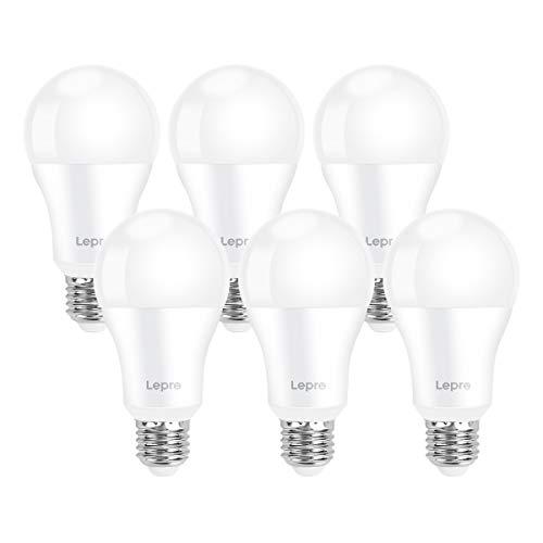 Lepro E27 LED Birne, 13.5 W 1521 Lumen LED Lampe E27, ersetzt 100W Glühbirne A60 Leuchtmittel E27, 2700 Kelvin Warmweiß LED Bulb, 6er Set, 200° Energiesparlampe