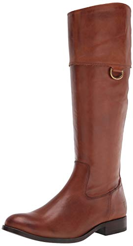 Frye Women's Melissa D Ring Tall Knee High Boot, Caramel, 9.5