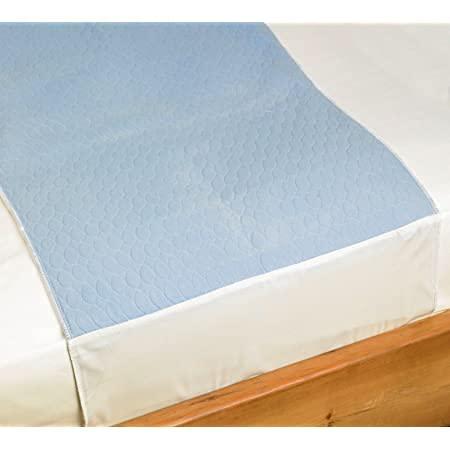 Protector travesero cama Super Absorbente 4,65 Litros m2 + 400 Lavados - Protector Colchón 5 Capas - Empapador Adultos Bebes y Niños - Protector Cama con Alas - Empapador Lavable 90 x 85