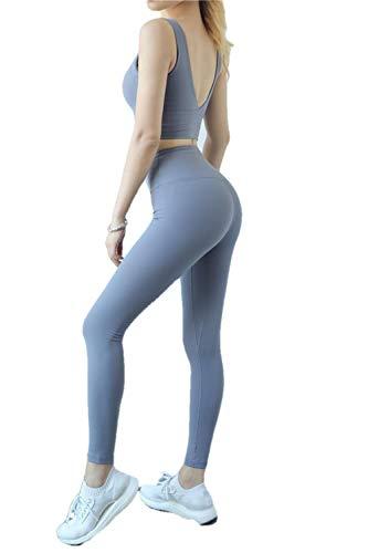 Lange Running-Hosen Für Damen Fitness-Hosen Für Damen Hip Fitness Hosen, Kleine Füße, Sport Yoga Hosen, Weiblich, Smog, Blau_S
