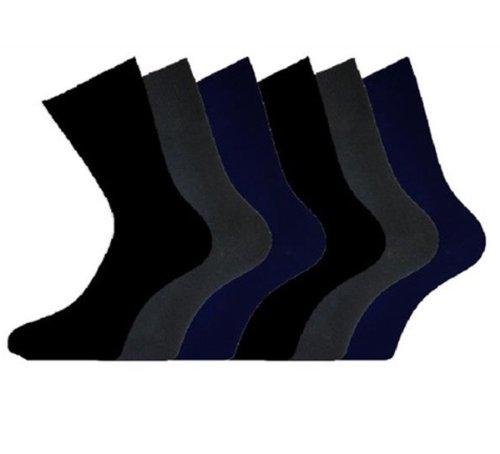 i-smalls Ltd Damen Baumwolle, uni lose breit Top Casual Socken nicht elastisch, 3Paar Pack Gr. 37-39, Dark Mixed