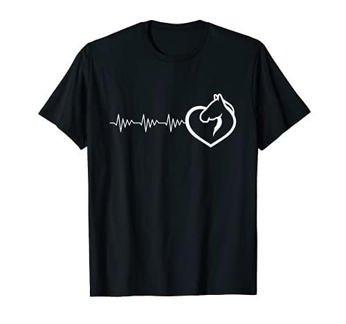 Caballo con látigo de corazón para amantes de los caballos Camiseta