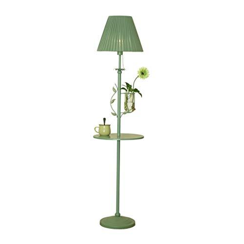 Lampes de chevet Lampadaire Salon Lampe De Canapé Table Basse Lampadaire Chambre Décoration De Chevet Lampe De Table Verticale (Color : Green, Size : 40 * 160cm)
