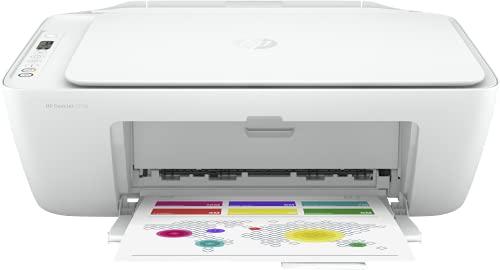 HP DeskJet 2710 5AR83B, Impresora Multifunción A4, Imprime, Escanea y Copia, Wi-Fi, USB 2.0, HP Smart App, Incluye 2 Meses del Servicio Instant Ink, Blanca