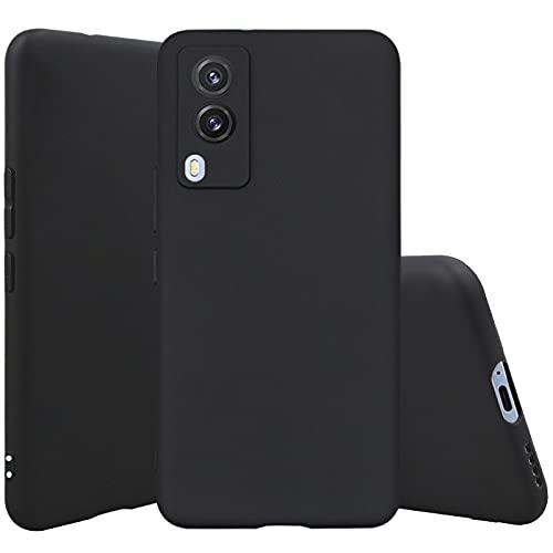 Cassby Back Cover Matte Thin Case for Xiaomi Vivo V21E 5G (Candy|Black)