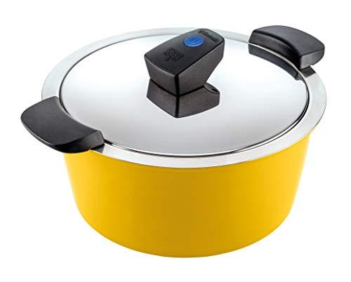 Kuhn Rikon Hotman Comfort Marmite à induction en acier inoxydable Jaune 5 l/22 cm