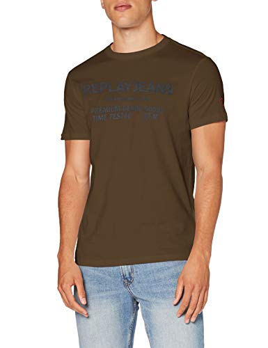 Replay M3178 .000.22980p T-Shirt, 439 Militaire, M Homme