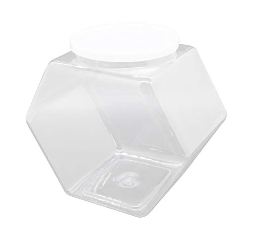 Review Of FixtureDisplays 6PK 1 Gallon Plastic Candy Bin w/Lift Off Lid - Clear 19485-6PK