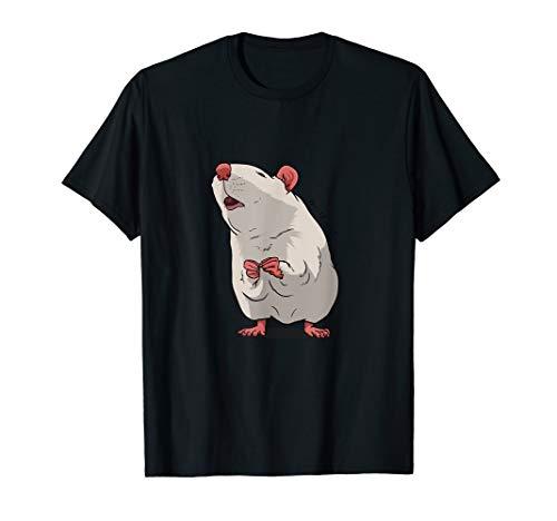 Weiße Ratte Liebe Geschenk für Nagetier, Ratten & Maus Fans T-Shirt
