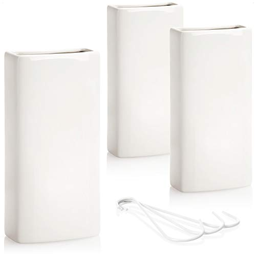 com-four® 3X Luftbefeuchter Heizung - Heizkörper Luftbefeuchter in weiß - Heizung Wasserverdunster aus Keramik - 370 ml