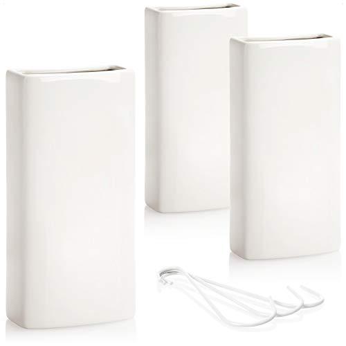com-four® 3X humidificador de Aire calefacción - radiador humidificador de Aire en Blanco - evaporador de Agua de calefacción de cerámica - 370 ml (Blanco)