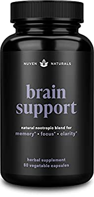 Brain Supplement ? Natural Nootropic Brain Booster for Focus, Energy, Memory, Mood, Clarity, and Brain Support with Lions Mane, Ginkgo Biloba & Bacopa Monnieri, Memory Supplement & Focus Supplement