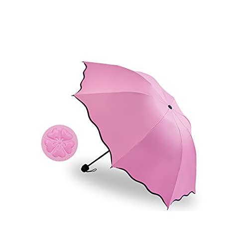 24580. Mini ombrellone da viaggio leggero, compatto e compatto signora ombrellone ombrellone pioggia solare, tasca pieghevole in vinile anti -UV Parasole femminile.