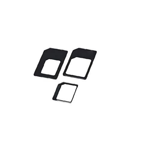 Odoukey 1 Juego de Adaptador práctica Sim Adaptador Micro Sim a Micro Sim Adaptador convertidor Negro