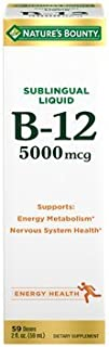 Nature's Bounty, Super Strength B-12, 5000mcg, 2-Ounce(Pack of 3)