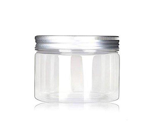 Juego de 4 oz/120 ml tarros botella de caja de cosméticos contenedores casos recargables con tapas de aluminio plata crema loción de plástico Pet pomadas alimentos botella