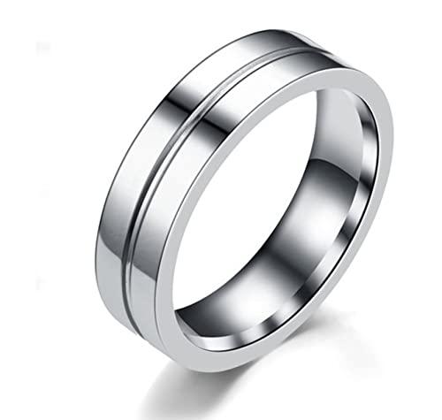 Banemi Anelli Uomo Acciaio Inossidabile Anelli Nodo Celtico Argento Superficie Liscia Misura Dell'anello 22