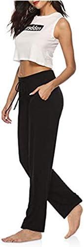 Pantalon de yoga Pantalon de course avec poches BeautyWill Pantalon sarouel baggy pour femme