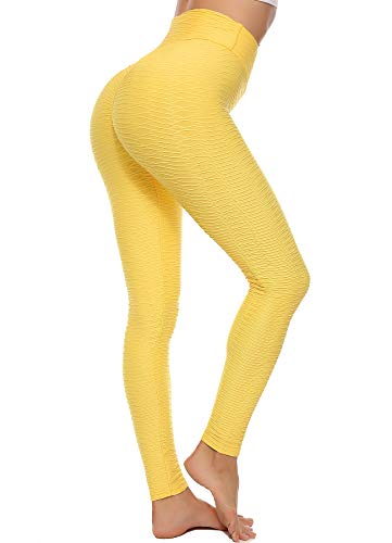 Starbird sportlegging voor dames, anti-cellulite, hoge taille, hoge compressiebroek, plissé, slim push up Yoya fitness