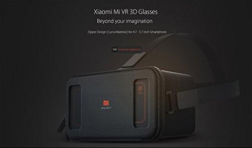 Xiaomi VR Realidad Virtual gafas 3D compatibles con la caja de 4.7-5.7 pulgadas teléfonos inteligentes para 3D Películas / Juegos Negro