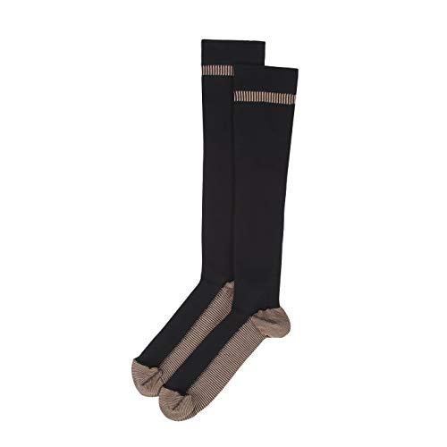 Travelon Lg. Copper Infused Compress Socks, Black
