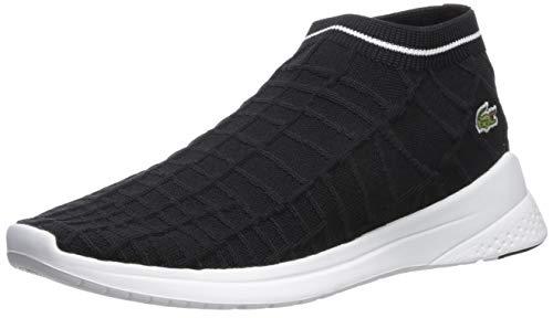 Lacoste Women's LT FIT Sneaker, Black/White, 9 Medium US
