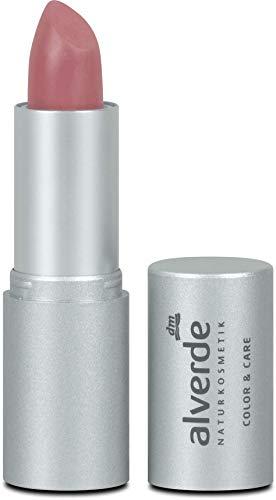 alverde NATURKOSMETIK Lippenstift Color & Care, 4,6 g (Primrose 07)