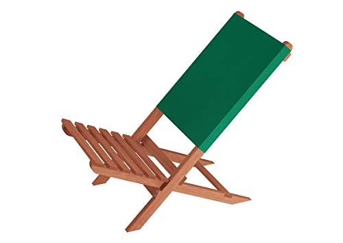 Erst-Holz Klappstuhl Strandstuhl Anglerstuhl Gartenstuhl Stuhl zum Zusammenstecken grüner Bezug 10-352