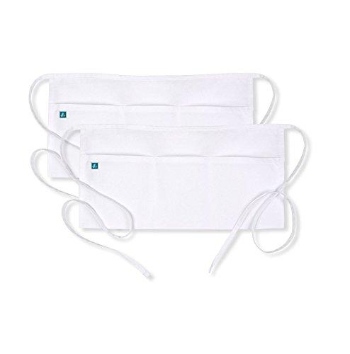 Adar Uniforms Unisex Arbeitsschürze mit Taschen für Schönheit und medizinische Berufe 709 Farbe: WHT | Größe: Regular